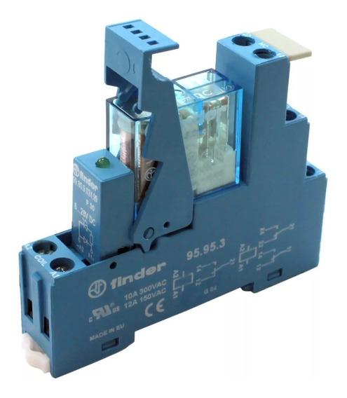 4x Relé Acoplador Interface 24v 2 Contatos Reversores