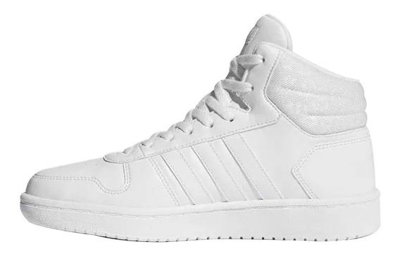Tenis adidas Hoops 2.0 Mid Blancos Dama Comodos Teklife Cl