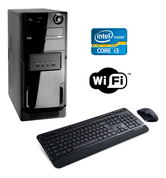 Cpu Intel Core I3 4gb Ram Hd 500gb Wifi Windows 10 - Brinde!