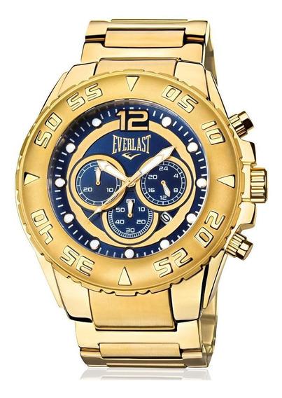 Relógio Everlast Masculino Dourado Analógico - E630