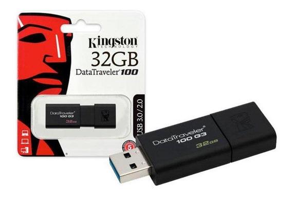 Pendrive Kingston Datatraveler 100 G3 32gb Preto