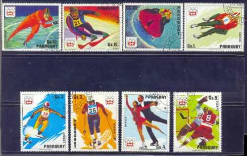 Paraguay 1975 Deportes Invernales Serie Completa Usada