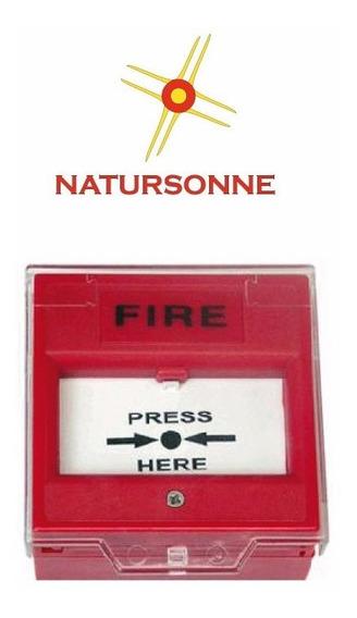 Pulsador Avisador Botón Manual Incendio Tipo Rompa Vidrio