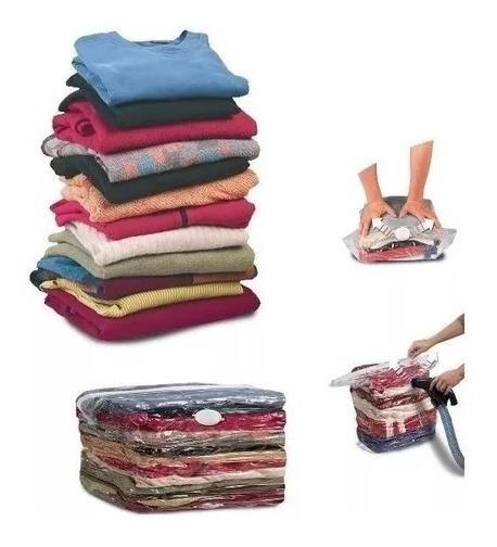 6 Sacos À Vácuo Organizador Cobertor Edredom Roupas 50x60cm