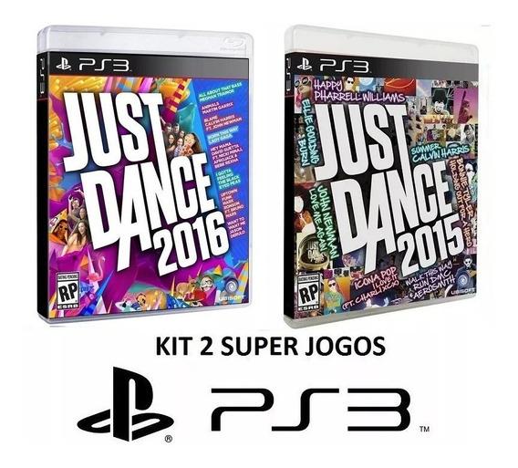 Just Dance 2016 + 2015 - Midia Fisica Original Lacrado - Ps3