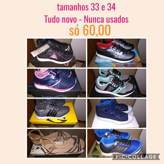 Tênis E Sandálias, Tamanho 33/34Só 60,00