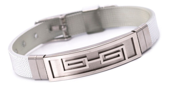 Pulseira Bracelete Masculino Ogrife J-285 Silicone Aço Inox
