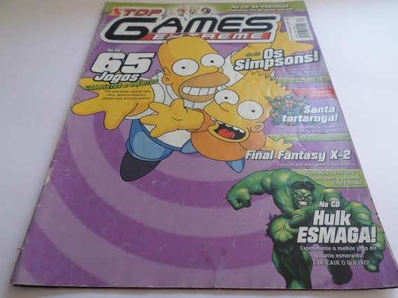 Revista Top Games Extreme Os Simpsons Ano 3 Nº 30 Antiga