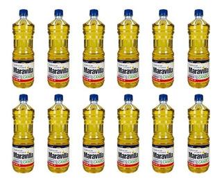 Aceite Maravilla Caja 12 Pz 1 Litro Comestible Puro Canola