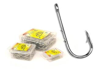 Anzol Número 2 Caixa Plástica Com 100 Pçs Xingu Aço Carbono