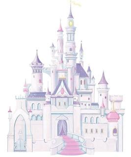 Vinil Stick Para Pared Castillo De Princesas - Blakhelmet E