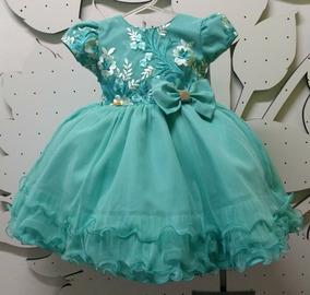 Vestido Tiffany Festa Luxo Formatura Infantil E Tiara