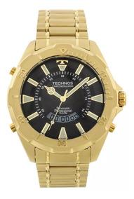 Relógio Technos Skydiver Grande Dourado F. Preto T205fl/4p
