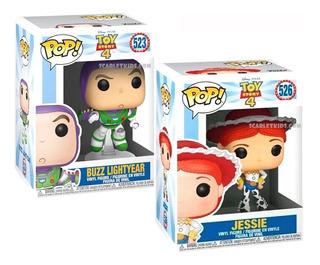 Funko Pop! Toy Story 4 Buzz Lightyear + Jessie Combo Scarlet
