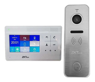 Interfon Metalico Contra Agua Monitor A Color Zkteco