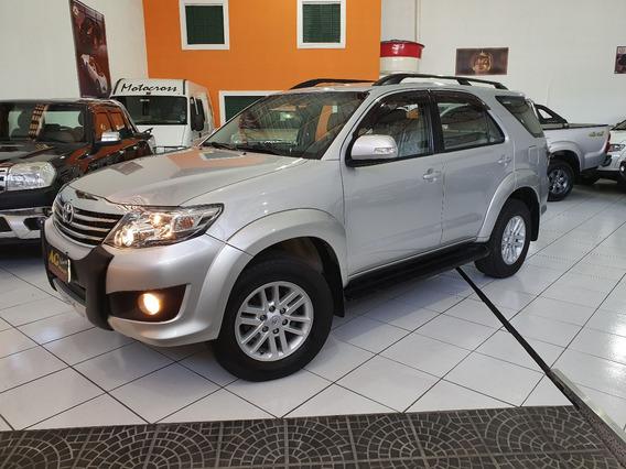 Toyota Hilux Sw4 Sr Flex 2014 Prata 2.7 Autom 5 Lug Couro