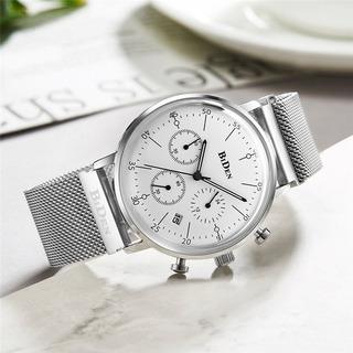 Elegante Reloj Analogico Con Cronógrafo Y Calendario