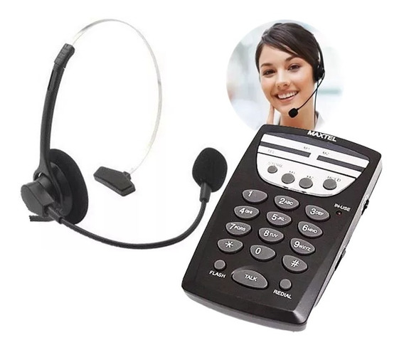 Telefone Maxtel Headset Mt-108 Head Set Head 7 Telemarketing