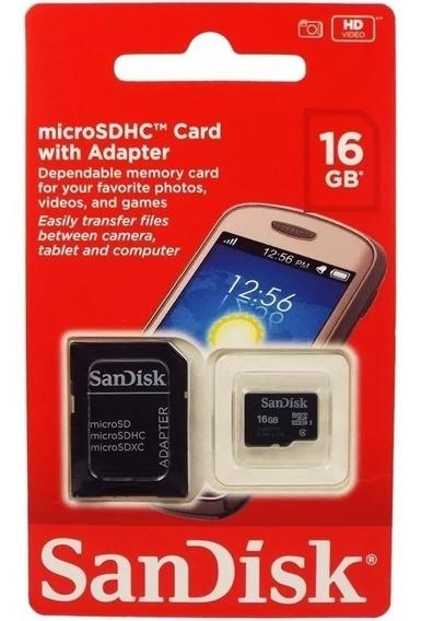 Cartão De Memória Sandisk Ou Kingston 16gb 100% Original