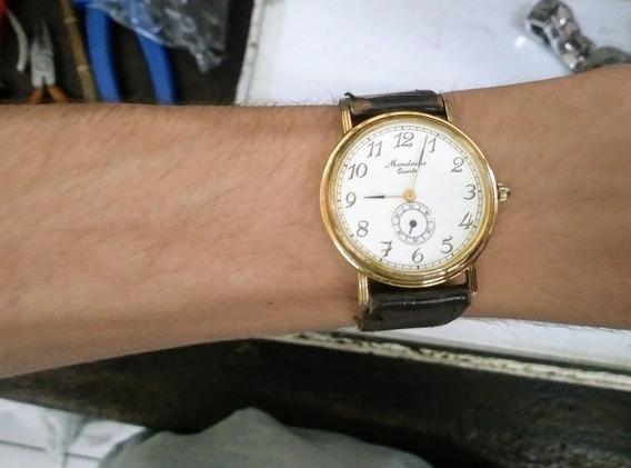 Relógio Antigo Mondaine Quartz Raro Estado De Conservação