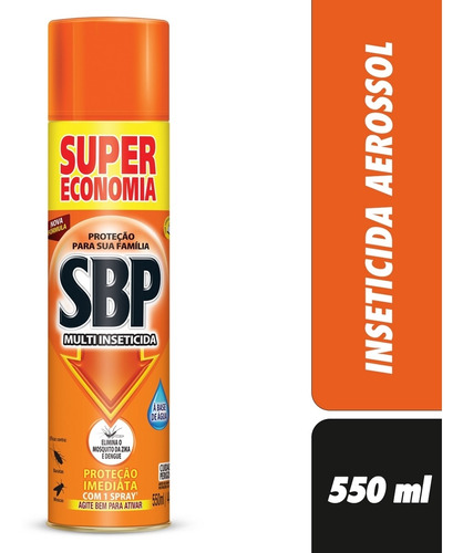 Sbp Multi Inseticida Aerossol 550ml Super Economia