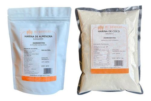 Imagen 1 de 6 de Harina De Coco Y Almendra Orgánica Premium 1 Kilo C/u Keto