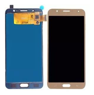 Tela Frontal Touch Display Samsung J710 J7 Metal Dourado