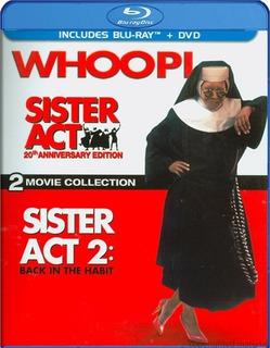 Blu-ray Sister Act 1 & 2 / Cambio De Habito 1 & 2