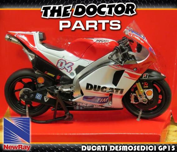 Moto Ducati Desmosedici Gp15 Dovizioso Escala 1:12 New Ray