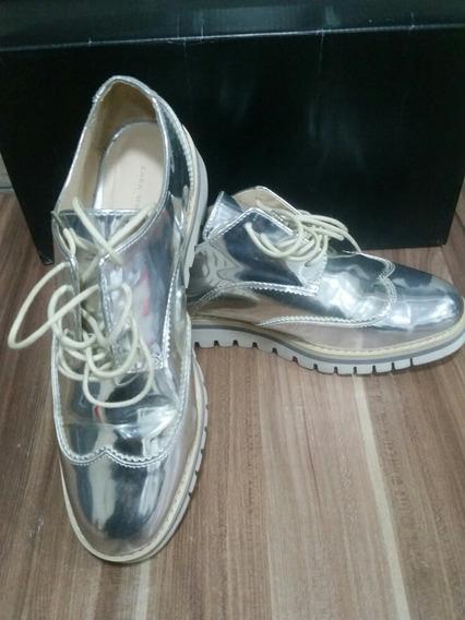 Sapato Zara Metalizado