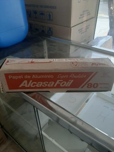 Papel Aluminio Alcasa Foil De 80 Mts