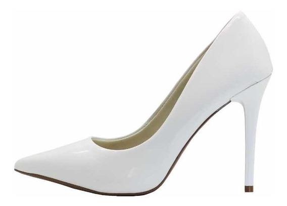 Zapatos Stiletos Di Cristalli Blanco Charol ***4209409***