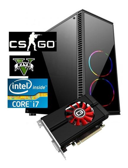 Pc Cpu Gamer Core I7 2600 3.8ghz 8gb Ssd 240g Gtx1050 F 500w