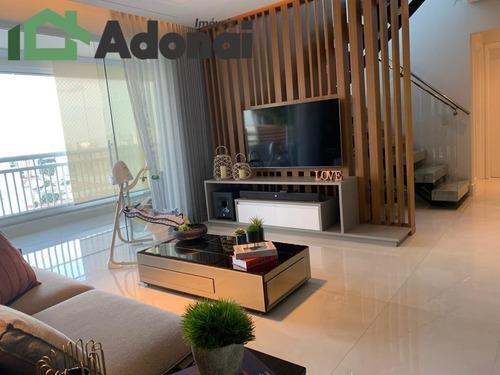 Imagem 1 de 15 de Cobertura Duplex 229 M² Infinity Top Living,3 Suítes  Sendo Uma Com Amplo - 985