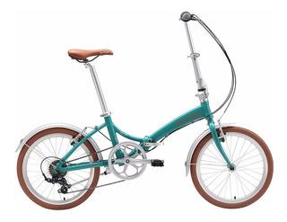 Bicicleta Dobrável Durban Rio Turquesa - 6 Marchas - Bike