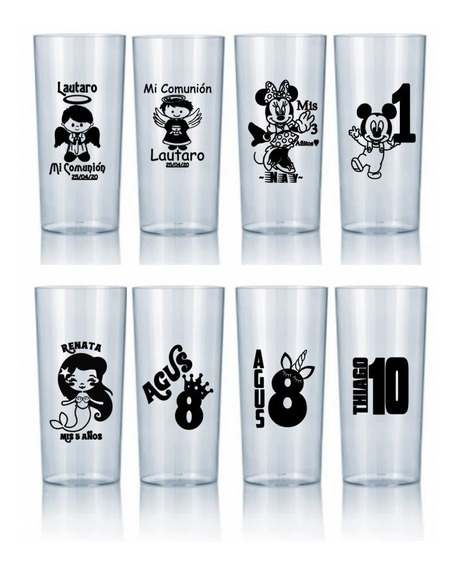 Vasos Luminosos Multicolor Personalizados X 30 U Vasos Led