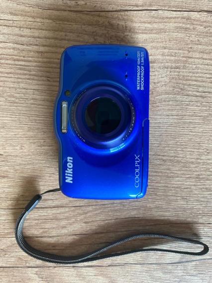 Câmera Fotográfica Nikon Coolpix S32 À Prova D