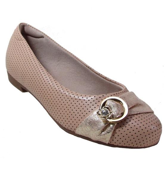 Sapato Modare 7026.106 Ultra Conforto Bege . Nova Coleção