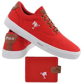 0f3c77562d2 Sapatenis Masculino Polo - Tênis Vermelho no Mercado Livre Brasil
