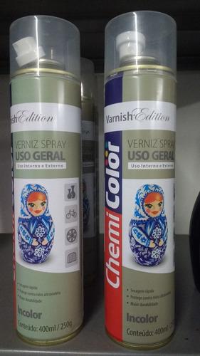 Imagem 1 de 1 de Verniz Spray Uso Geral Chemi Color