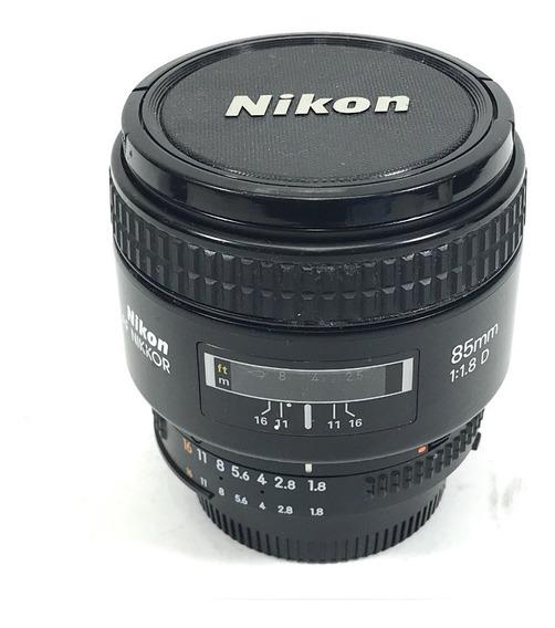 Lente Nikon Af 85mm 1.8 D Linda Versão Japonesa! Com Nf.e §