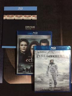 Pack 3 Blu-ray (interestellar - Eclipse - Espn Films)