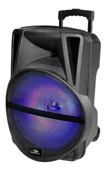Caixa De Som Sumay 500w Bluetooth 1 Microfone