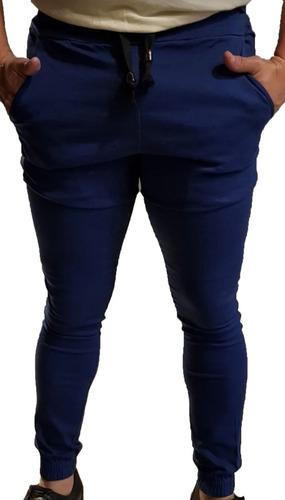Pantalon Jogger Elastizado Raptor Con Puño Azul