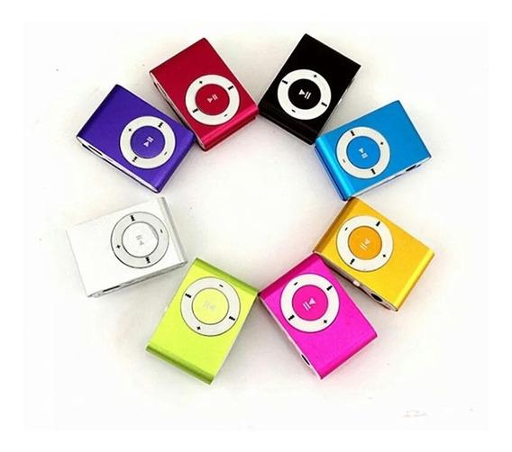 20 Mini Mp3 Mp4 Player Clip Fm Cabo Usb Fone Mercado Livre