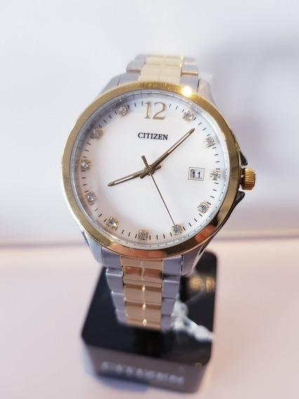 Relógio Feminino Misto (prateado E Dourado)