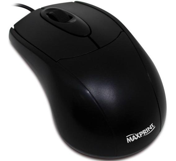 Mouse Óptico Usb Preto Maxprint