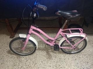 Bicicleta De Niñas Rosa Rodado 14 Hermosa Exelentemantenimim