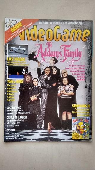 Revista Video Game 11 Familia Addams Barbie Simpsons 2 E313