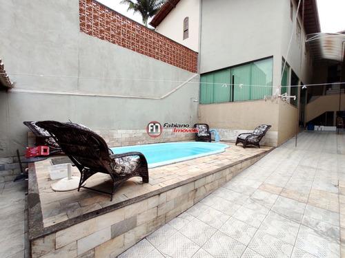 Casa Maravilhosa Com 04 Quartos E Piscina A Venda No Santa Amélia - Pampulha - 6019